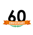 template 60 years anniversary background with vector image vector image