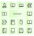 textbook icons vector image vector image