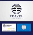 travel brittany creative circle flag logo