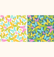 vintage pattern with colorful butterflies vector image vector image