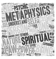 Why Metaphysics Part 2 text background wordcloud vector image vector image