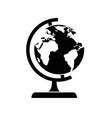 world globe isolated vector image vector image
