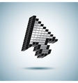 huge mouse cursor vector image