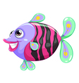 A pretty fish vector image vector image