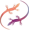 abstract colorfull decorative lizards vector image vector image