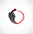Abstract pointer click icon logo