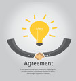 agreement business and handshake vector image vector image