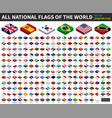 all national flags of the world isometric top vector image vector image