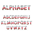 alphabet with multi-colored layers vector image