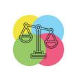 balance scale icon balance symbol - justice sign vector image