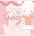 beautiful ballerina ballet theater curtains stars vector image vector image