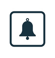 bell icon Rounded squares button vector image vector image