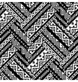Black and white zig zag ethnic geometric aztec vector image vector image
