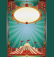 blue and red magic circus background vector image