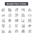 budjeting line icons signs set outline vector image vector image