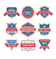 business badges set in retro design style vector image
