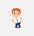 businessman in smart casual style scared vector image vector image