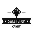 candy shop logo simple black style vector image vector image