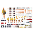caucasian man constructor or diy kit collection vector image vector image