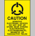 caution electrostatic sensitive devices sign vector image vector image