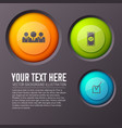 circle business icons background vector image