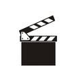 Clapper board icon vector image vector image