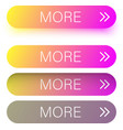 colorful spectrum more web buttons isolated on vector image vector image