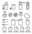 cooking sign instruction for manual on packing vector image vector image