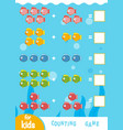 counting game for children count number of vector image vector image