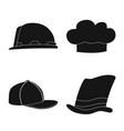 design of headgear and cap logo collection vector image