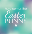 Easter here comes the bunny bokeh vector image