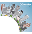 Edmonton Skyline with Gray Buildings Blue Sky vector image vector image