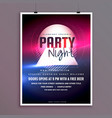 elegant party night music flyer template design vector image vector image
