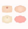 emblem sticker of oval shape pink beige pastel vector image vector image
