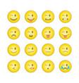 emoticon smile icons set 10 vector image vector image