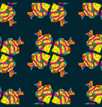 fabric design seamless pattern with hand drawn vector image