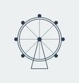 ferris wheel icon vector image vector image