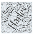 Finding The Right Harley Accessory Word Cloud vector image vector image