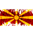 Flag of Macedonia vector image vector image