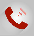 flat icon a phone flat design style vector image
