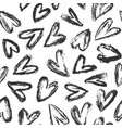 hand drawn heart background 01 vector image