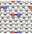 Hipsters retro 3D Glasses seamless pattern vector image vector image