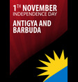 independence day of antigua and barbuda flag and vector image vector image