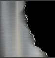 industrial background of torn metal vector image vector image