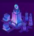 isometric city in ultra violet colors vector image vector image