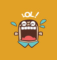 laugh out loud funny character vector image