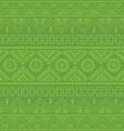 light green native american ethnic pattern vector image vector image
