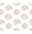 light hand drawn rustic pattern with roses vector image