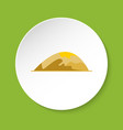 low hill icon in flat style vector image vector image