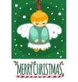 Merry Christmas and Happy New Year post Card with vector image